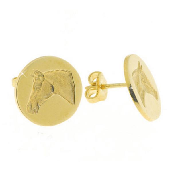 Ohrstecker Pferdekopf im Stil eines Siegels