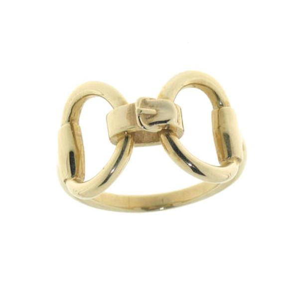 Ring großes Trensengebiß mit Zügelstück massiv Gelbgold