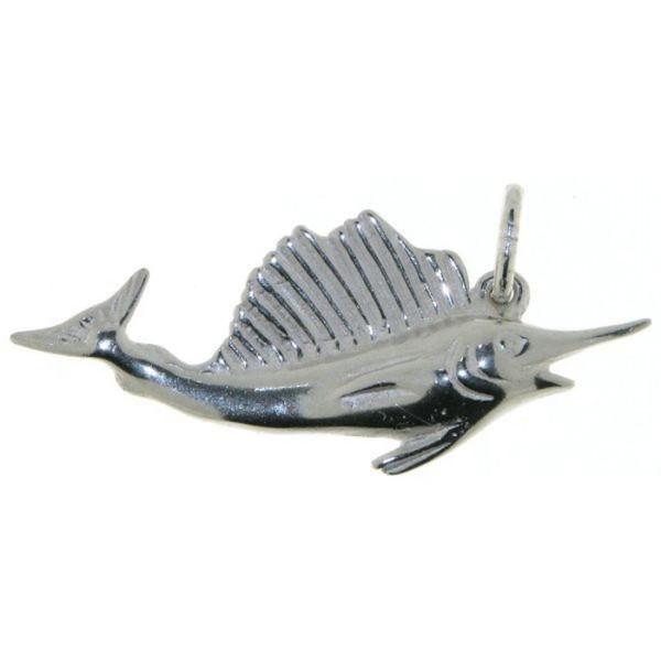 Anhänger Schwertfisch Fächerfisch echt Silber