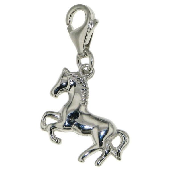 Charm Pferdchen springend Pony Pferd massiv echt Silber