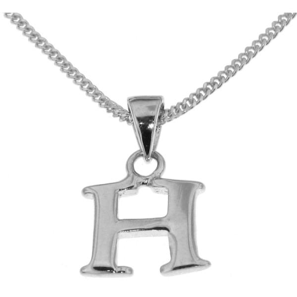 Anhänger Buchstabe H massiv echt Silber mit Kette Sonderangebot nur für kurze Zeit