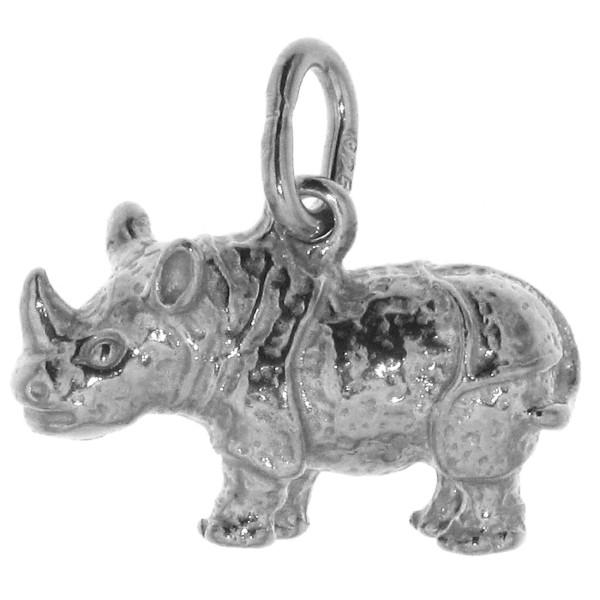 Anhänger Nashorn Rhinozerus massiv echt Silber
