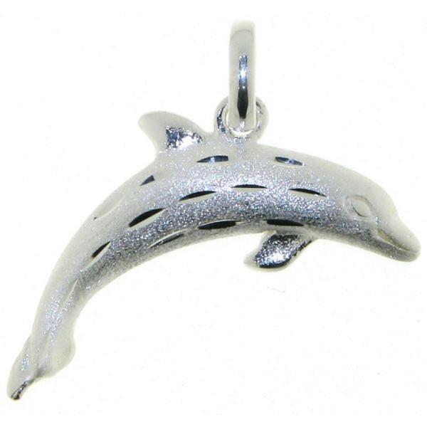 Anhänger Delphin mattiert-diamantiert