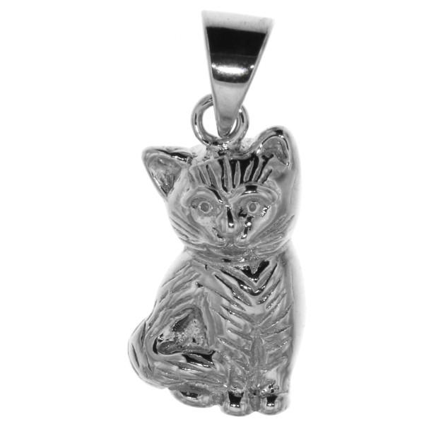 Anhänger Katze Kater Kätzchen massiv echt Silber