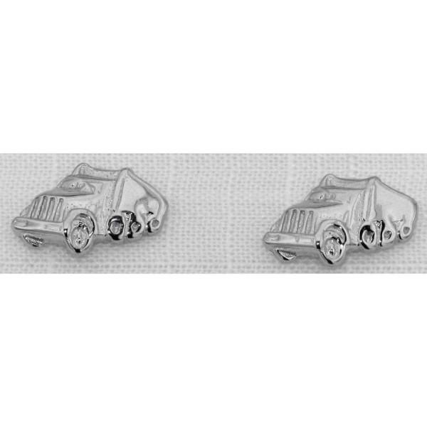 Ohrstecker Truck als Paar Ohrring massiv echt Silber