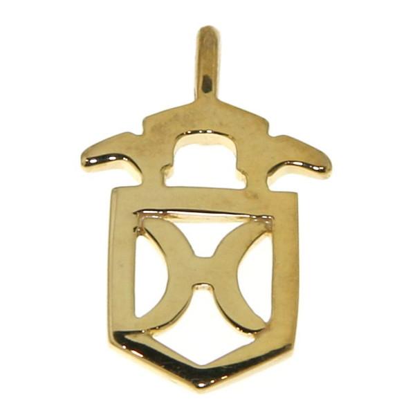 Anhänger Brandzeichen Holstein klein echt Silber goldplattiert