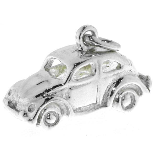 Anhänger VW Käfer Oldtimer Volkswagen echt Silber