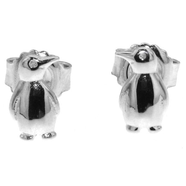 Ohrstecker Ohrring Pinguin
