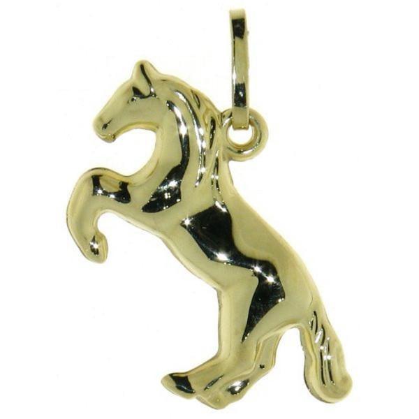 Anhänger Pferdchen Pferd Pony 333/- Gelbgold - Sonderpreis solange Vorrat reicht