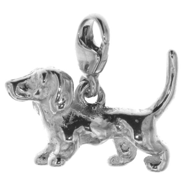 Charm Dackel Teckel Hunderasse klein massiv echt Silber