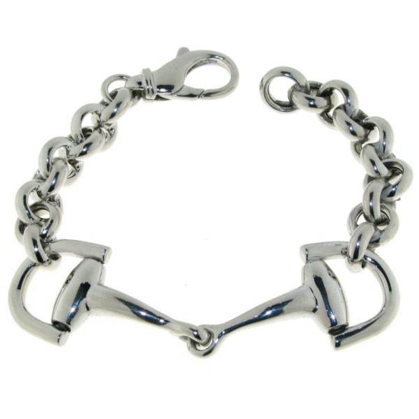 Armband Trensengebiß Trensenarmband massiv schwer echt Silber moderner Stil