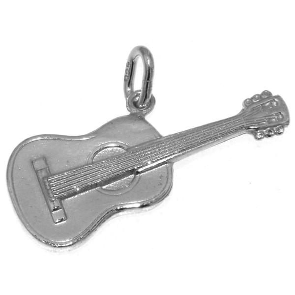 Anhänger Gitarre klassisch Musikinstrument massiv echt Silber