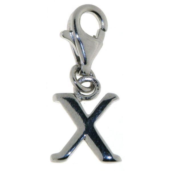 Charm Buchstabe X massiv echt Silber