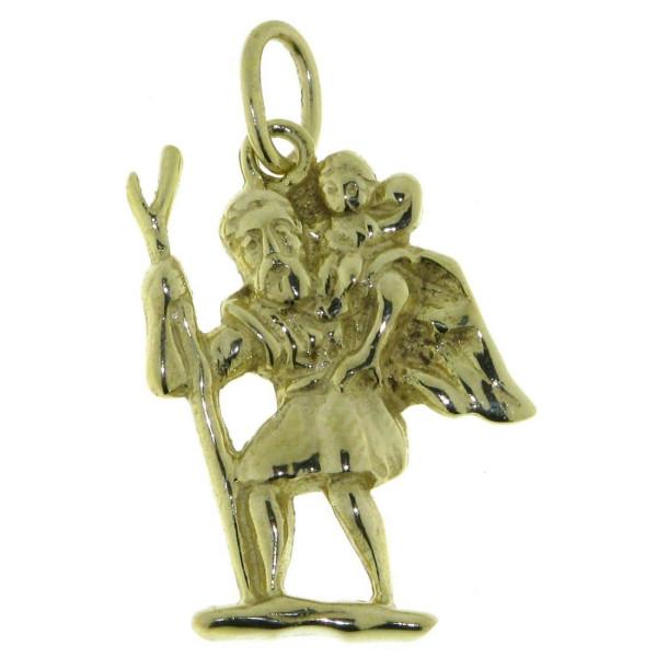 Anhänger Christophorus Heiligensymbol massiv echt Gold