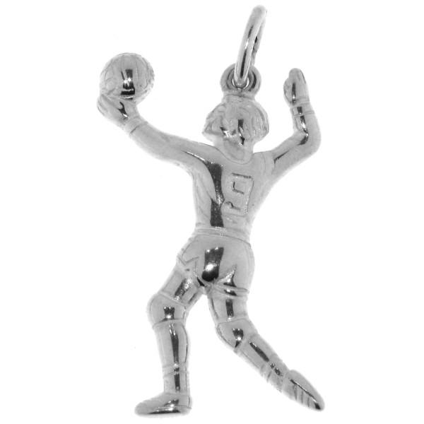 Anhänger Volleyballspieler Volleyball massiv echt Silber