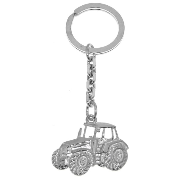 Schlüsselanhänger Traktor Schlepper Bulldog Landwirtschaftssymbol groß schwer massiv echt Silber