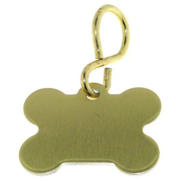 Schild für den Hund kleiner goldfarben