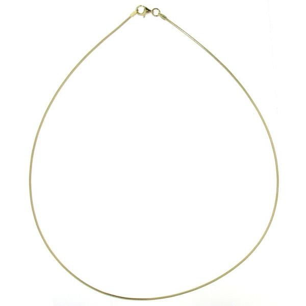 Omegareif Halsreif Tonda Collierkette echt Silber goldplattiert 1,3 mm stark