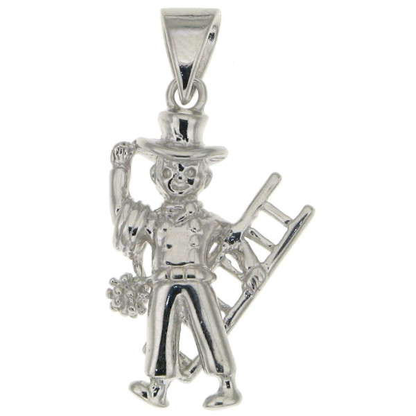 Anhänger Kaminfeger Schornsteinfeger massiv echt Silber