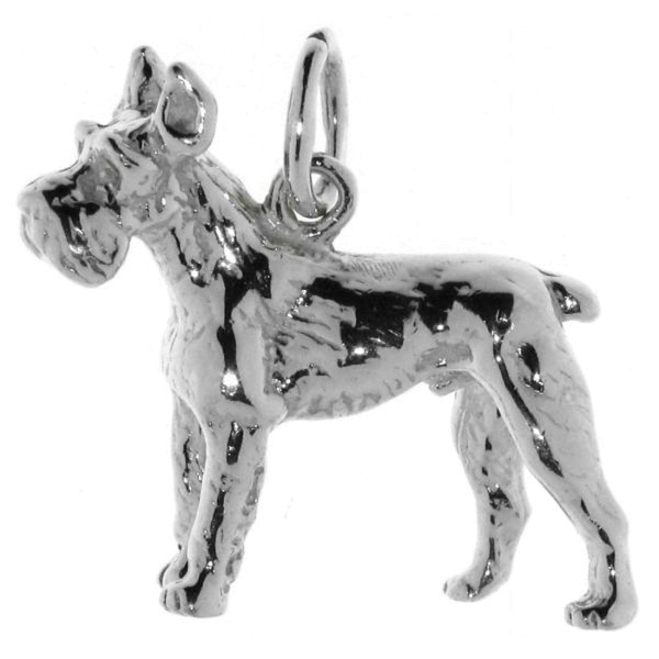 Anhänger Schnauzer Hunderasse massiv echt Silber