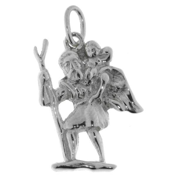 Anhänger Christophorus Heiligensymbol massiv echt Silber
