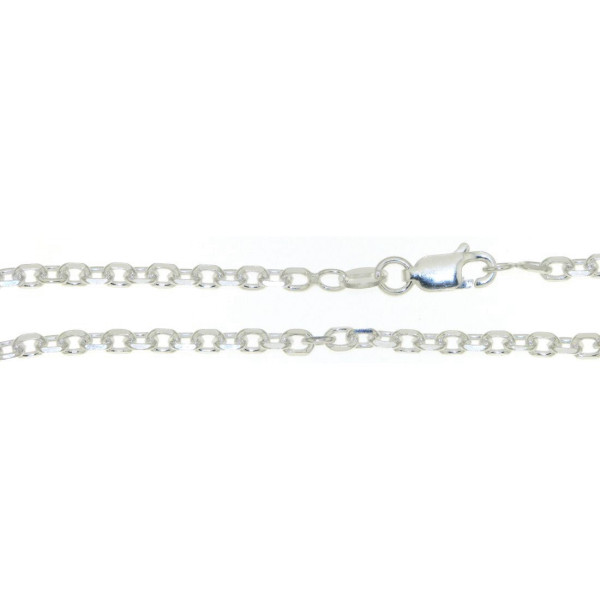 Collierkette 3 mm stark Anker diamantiert 925/- Silber Unisex