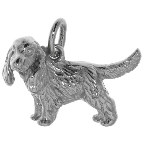 Anhänger Cocker-Spaniel unkupiert Hunderasse massiv echt Silber