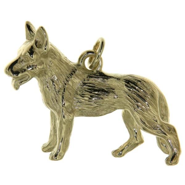 Anhänger Schäferhund Hunderasse groß schwer massiv echt Gold