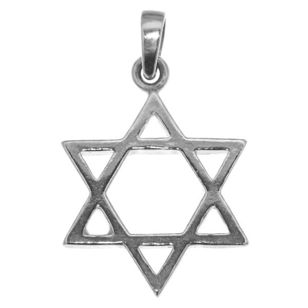 Anhänger Davidstern Glaubenssymbol Talisman massiv echt Silber