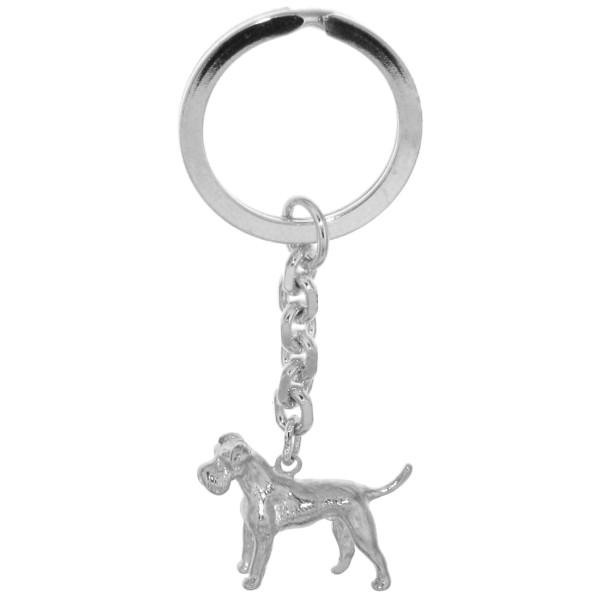 Schlüsselanhänger Schnauzer Hunderasse massiv echt Silber