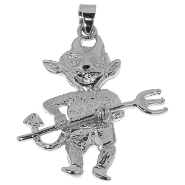 Anhänger Teufelchen - kleiner Teufel massiv echt Silber