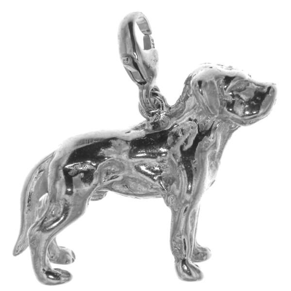 Charm Labrador Retriever Hunderasse mit unkupierter Rute schwer massiv echt Silber