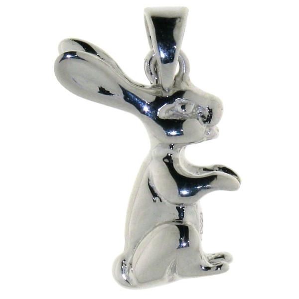 Anhänger Kaninchen Hase massiv echt Silber