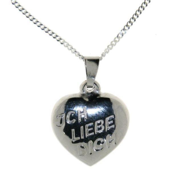 """Anhänger Herz """"Ich liebe Dich"""" mit Kette - echt Silber Sonderpreis"""