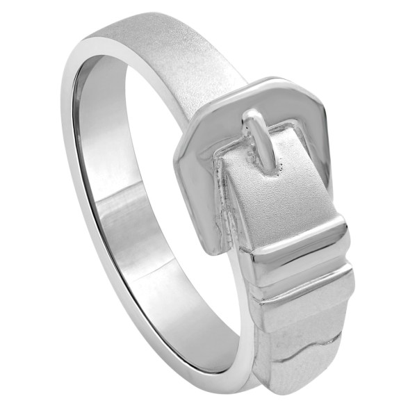 Ring Buckle Gürtel-Schließe massiv echt Silber Westernmotiv