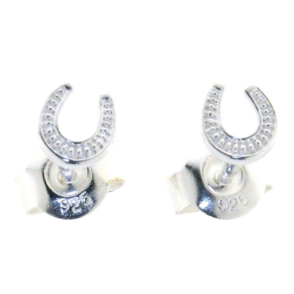 Ohrstecker Hufeisen mini - Hufeisen-Ohrstecker klein und fein - echt Silber