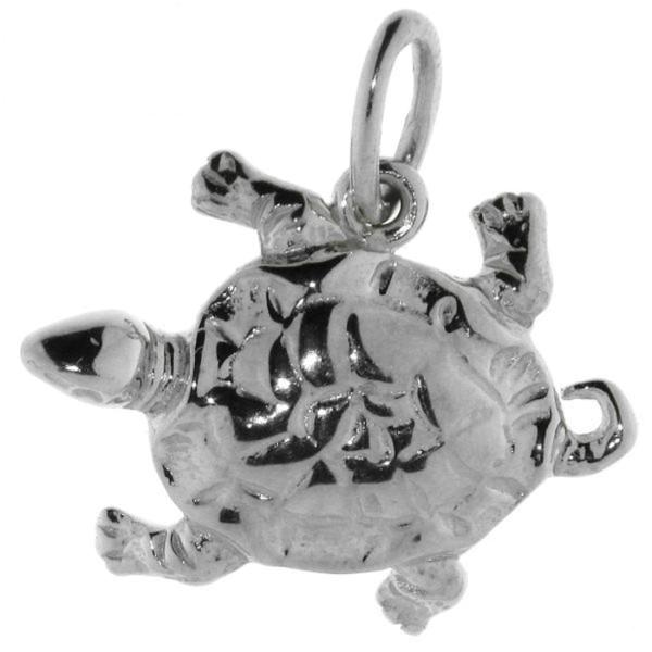 Anhänger Schildkröte massiv echt Silber