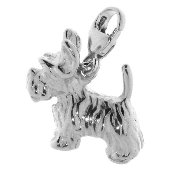 Charm Terrier Hunderasse massiv echt Silber