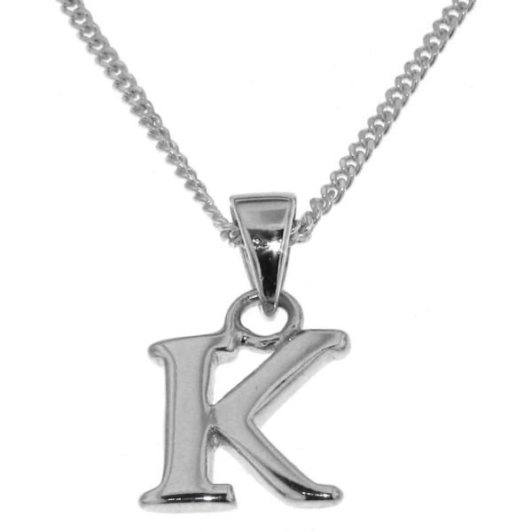 Anhänger Buchstabe K massiv echt Silber mit Kette Sonderangebot nur für kurze Zeit