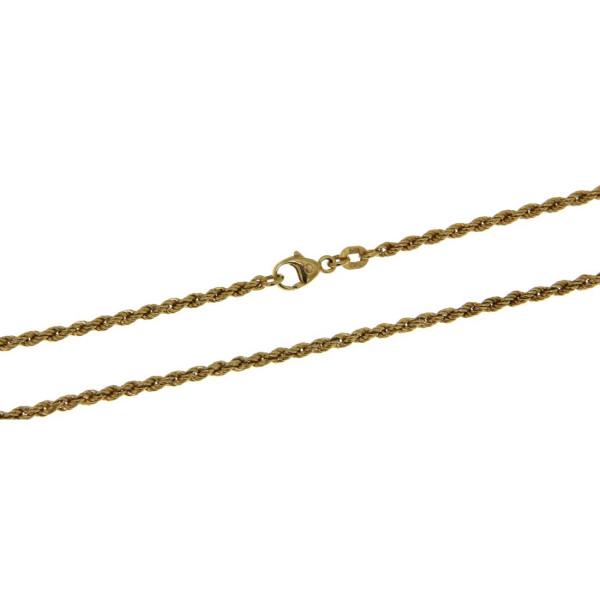Collierkette Kordelkette - Rope chain - 2,1 mm stark massiv schwer 585/-