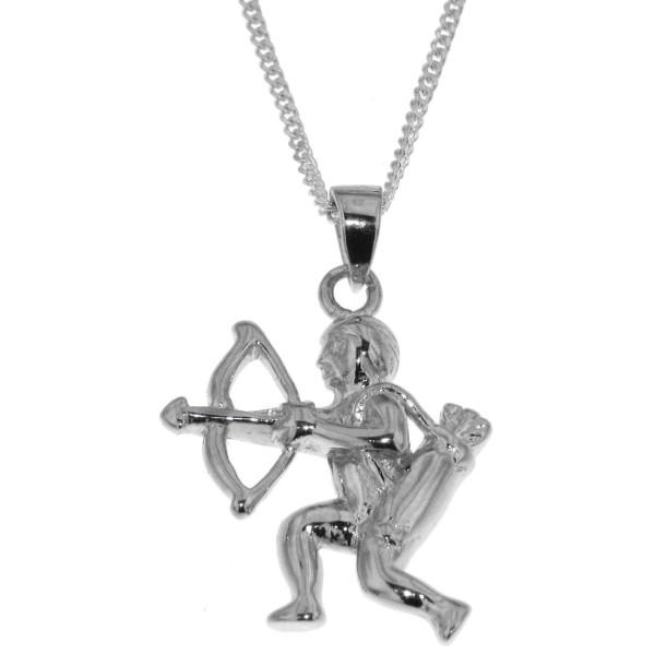 Anhänger Schütze mit Kette Sternzeichen Tierkreiszeichen echt Silber