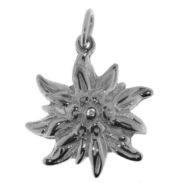 Anhänger Edelweiß-Blüte Edelweiss mittelgroß echt Silber