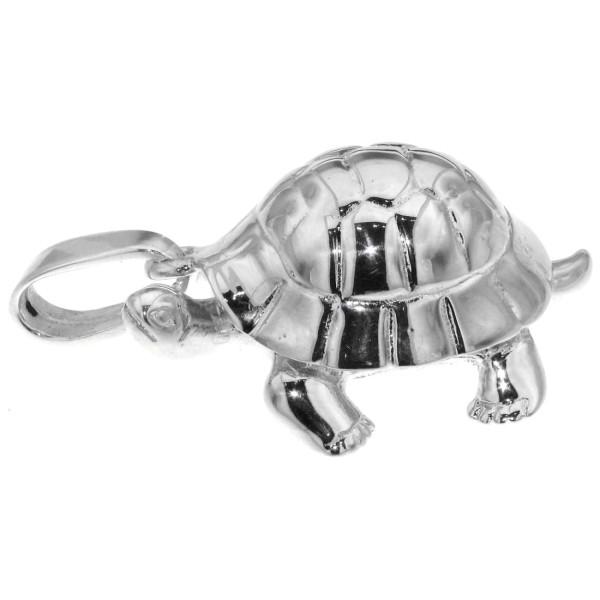 Anhänger Schildkröte groß sehr schwer massiv echt Silber