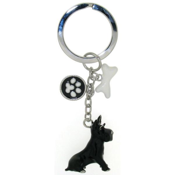 Schlüsselanhänger Hund Scottish Terrier mit Knochen