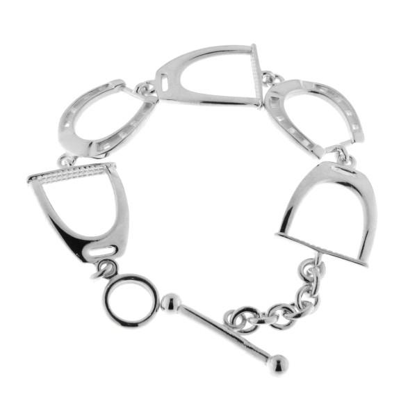 Armband aus Steigbügel und Hufeisen massiv echt Silber