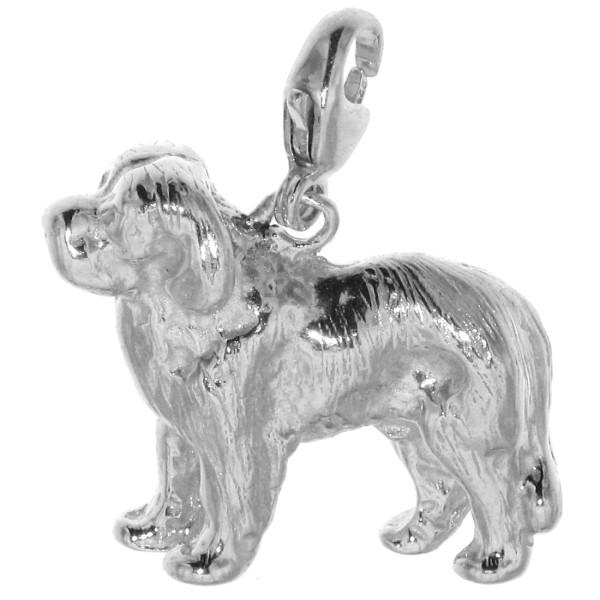 Charm Bernhardiner Hunderasse massiv echt Silber