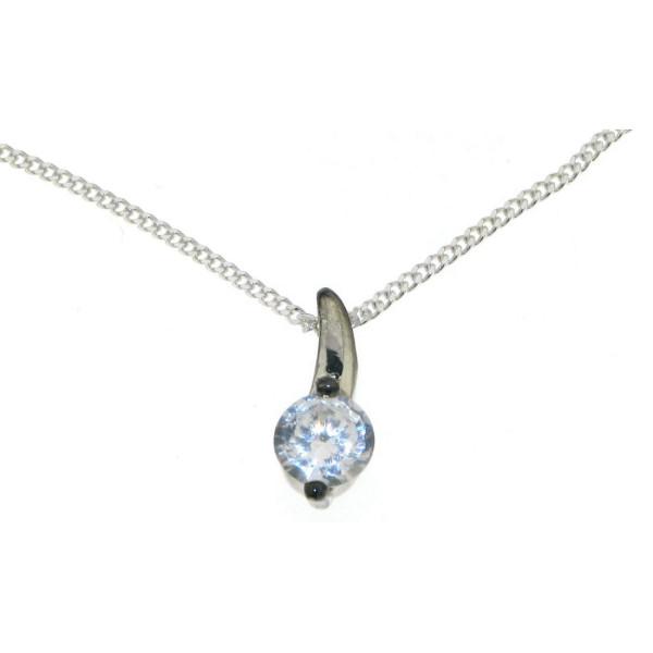 Anhänger Zirkonia funkelnd wie ein Diamant mit Kette echt Silber