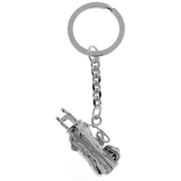 Schlüsselanhänger Golfsack mit Golfschlägern schwer massiv echt Silber