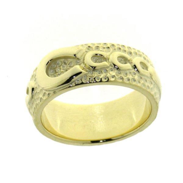 Ring mit einem großen und 4 kleinen Hufeisen schwer massiv Gelbgold