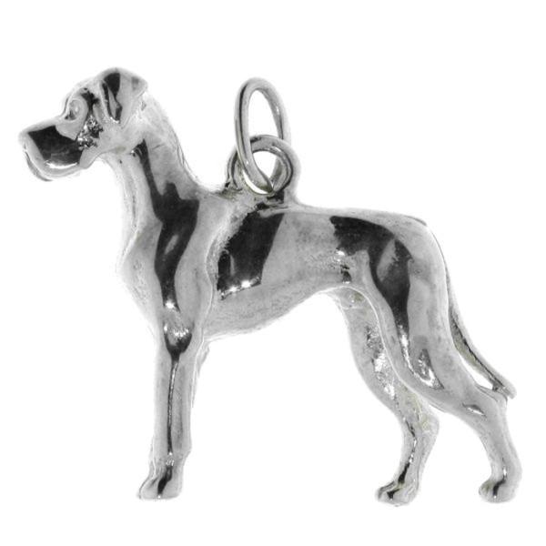 Anhänger Dogge Hunderasse schwer groß massiv echt Silber